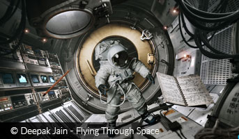 Deepak Jain Flying Through Space